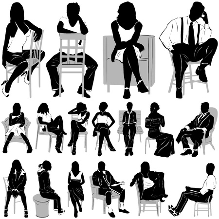 сидит: sitting people