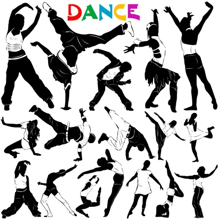 dancers: dance vector Illustration
