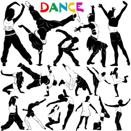 bailarinas: vector de danza Vectores