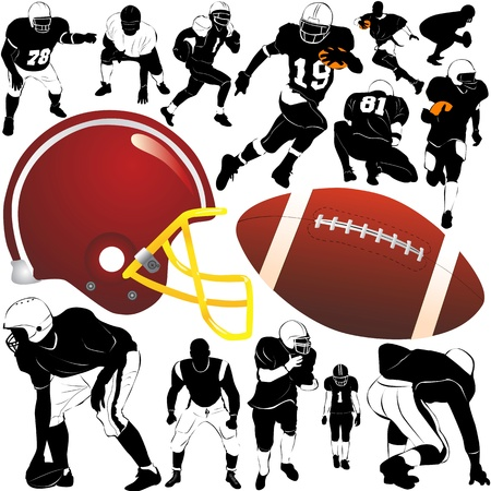 football players: american football vector