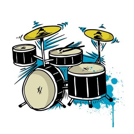 Drum tekening  Vector Illustratie