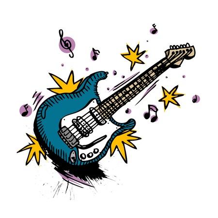 guitar drawing  Vector