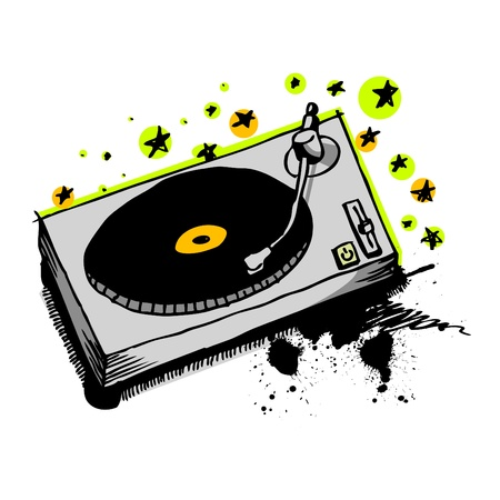 turntable drawing  Stock Vector - 9401310