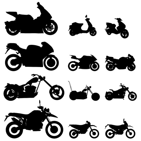 motorcycle set Stock Vector - 9401308