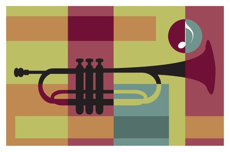 bauhaus: abstract music background (trumpet)