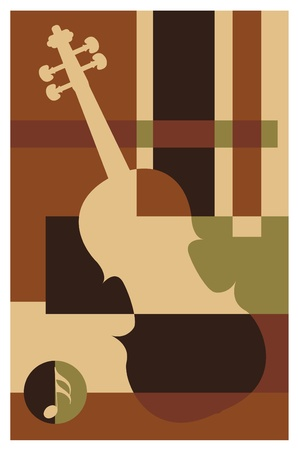 bauhaus: abstract music background (violin)
