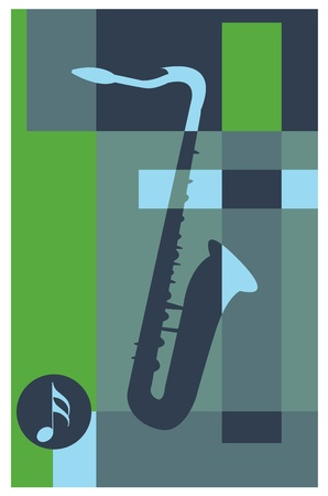 abstract music background (saxophone)  Stock Vector - 9400836