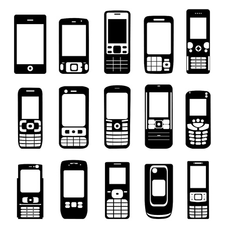 mobile icon: set of mobile phone vector  Illustration