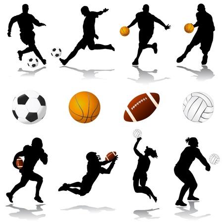 volleyball player: sport set