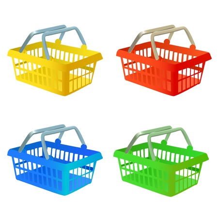 supermarket checkout: shopping basket vector