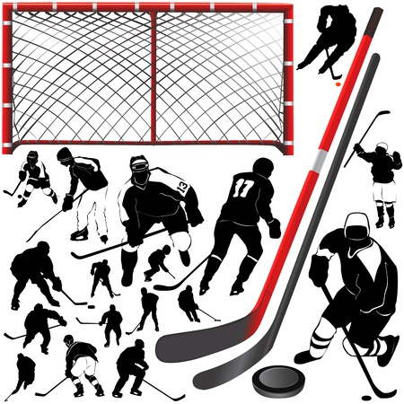defense equipment: Hockey  Vectores