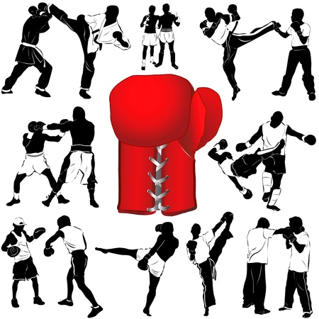 girl punch: boxing  Illustration