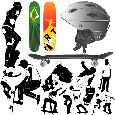 grind: skateboard  Illustration