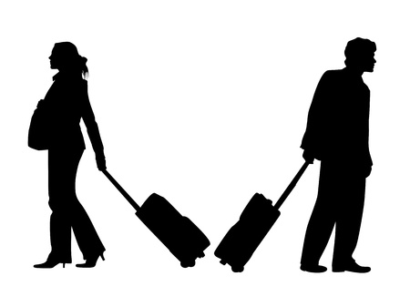baggage: Tasche und Menschen  Illustration