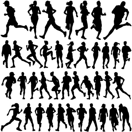 runner people  Stock Vector - 9447439