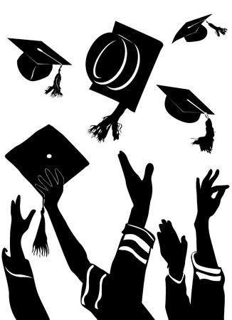 graduation  Stock Vector - 9447330