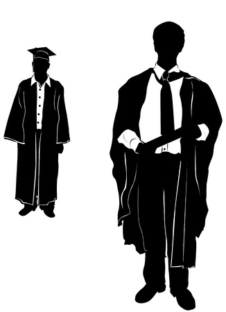high school students: graduate (clothes detail) Illustration