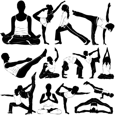 abdominal exercise: yoga (clothes detail)