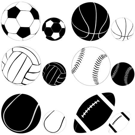 ボール: スポーツ ボール  イラスト・ベクター素材