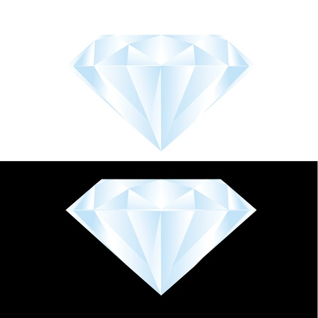 diamond with detail  Vector