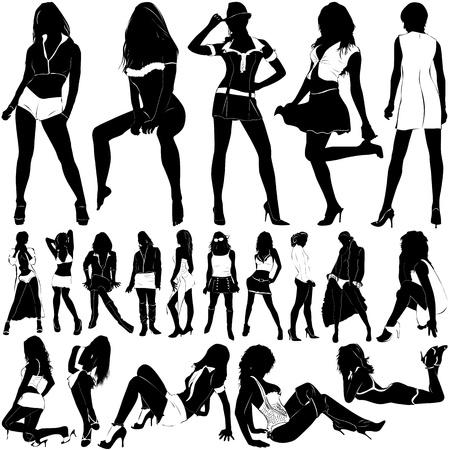 sexy women: fashion sexy women (clothes detail)  Illustration