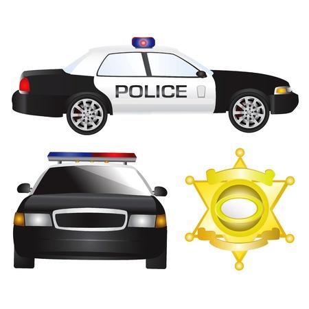 emergency vehicle: auto della polizia  Vettoriali