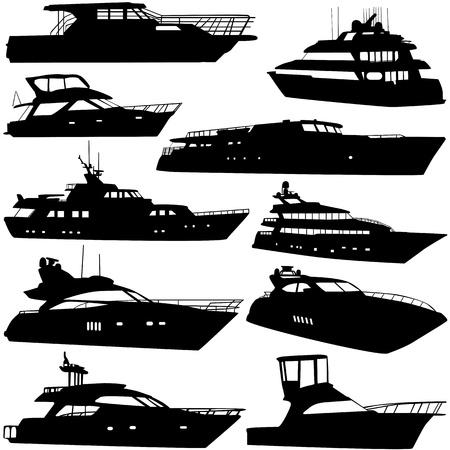sea tranportation (motor-yatch) Stock Vector - 9447389