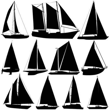 sea tranportation sailing boat  Vector