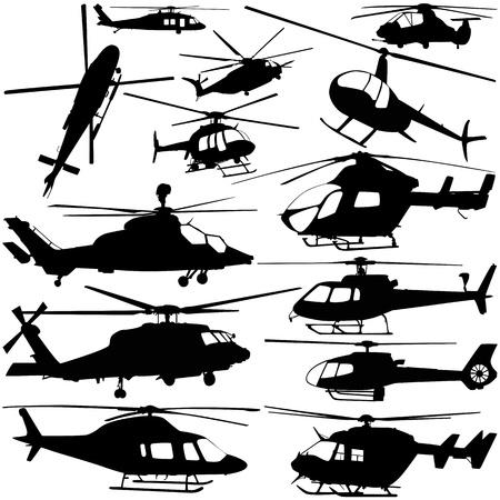 collectie van helikopter