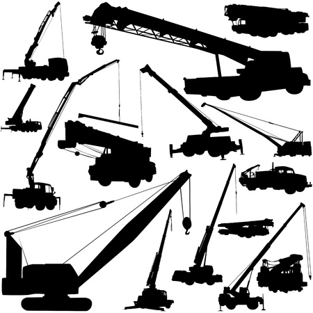 construction objects (crane)  Vector
