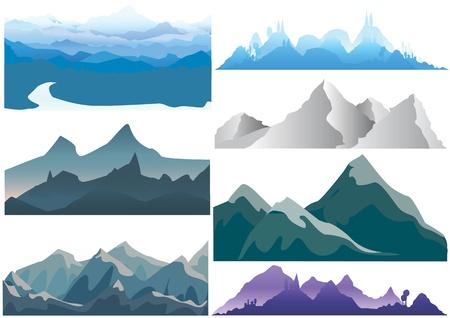 montaña  Ilustración de vector