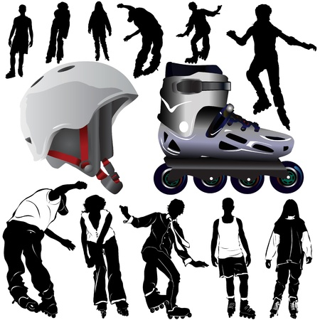 roller blade: roller blades (clothes detail)  Illustration