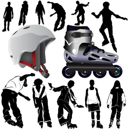 roller blade: roller blades (clothes detail)  Illustration