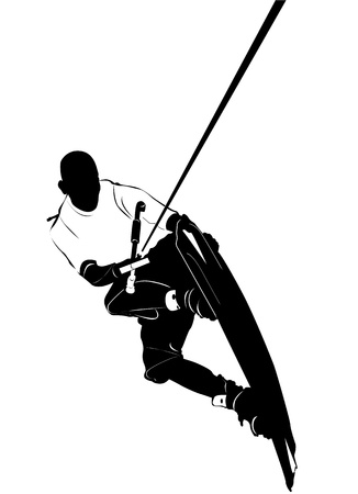 wake: wakeboarding  Illustration