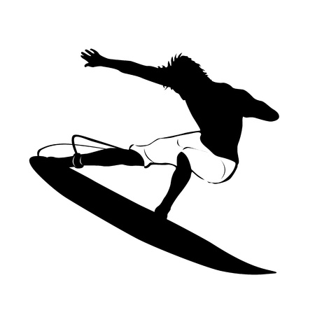 surf silhouettes: Surf