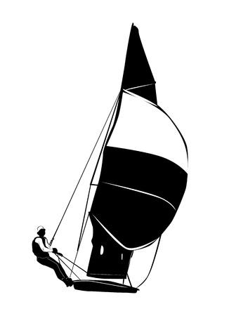 barca a vela: barca a vela Vettoriali