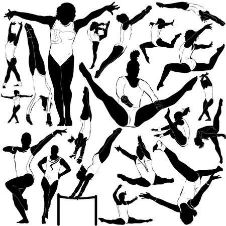 female gymnast: athletic and gymnastics (clothes detail) Illustration