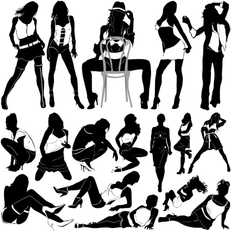 fashion sexy women (clothes detail)  Vector