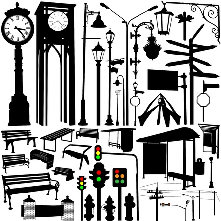 city objects and accessories