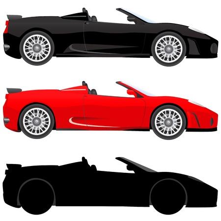 exotic car: exotic car (illustration in detail)
