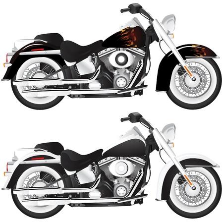 mid air: motocicleta (ilustraci�n de detalle)  Vectores
