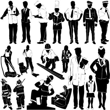 meseros: trabajadores de la ciudad  Vectores