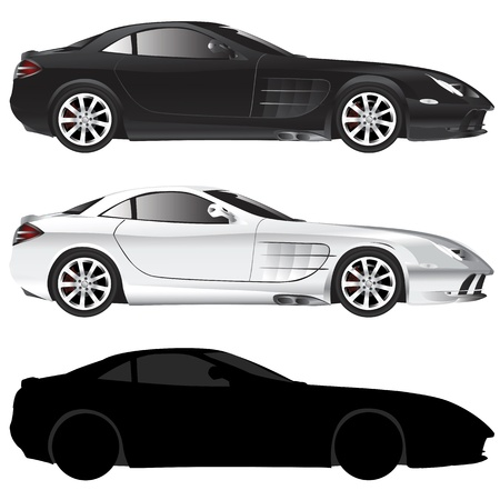 exotic car: exotic car (illustration in detail) Illustration