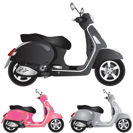 motorcross: Ilustraci�n de detalle de scooter  Vectores