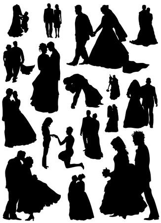 groom: bride and groom vector (married people)