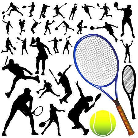collection of tennis vector  Vector