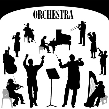 director chair: orchestra musician vector