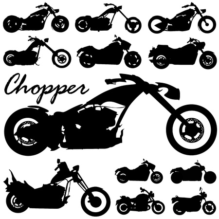 vecteur de moto Chopper  Vecteurs