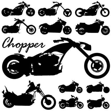 mid air: vector de moto Chopper