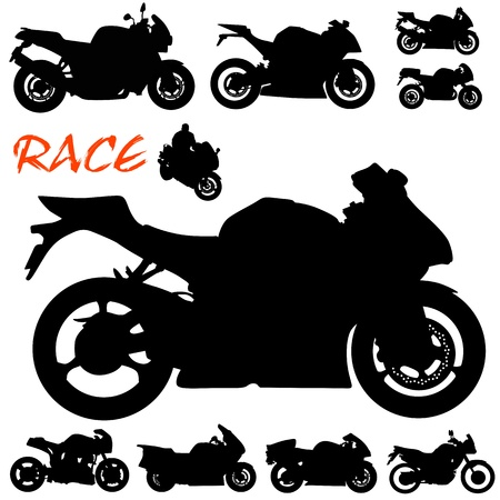 race motorcycle vector  Vector